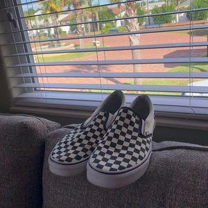Checkered vans size 11